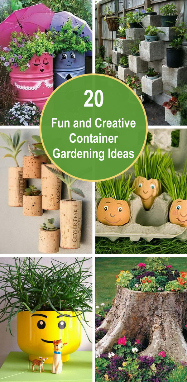 20 Fun and Creative Container Gardening Ideas.