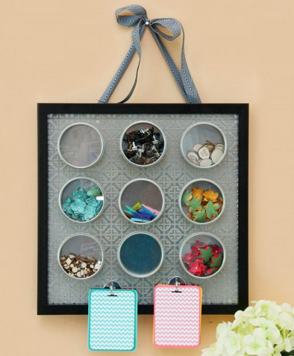 magnetic embellishment organizer. Smart, well-organized, bright and beautiful. The right storage containers can make a difference in storing your possessions for safekeeping and easy access.