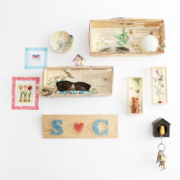 storage box on wall. Smart, well-organized, bright and beautiful. The right storage containers can make a difference in storing your possessions for safekeeping and easy access.