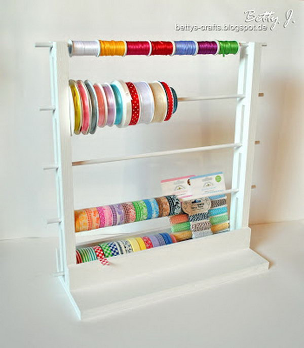 washi tape organizer. Smart, well-organized, bright and beautiful. The right storage containers can make a difference in storing your possessions for safekeeping and easy access.