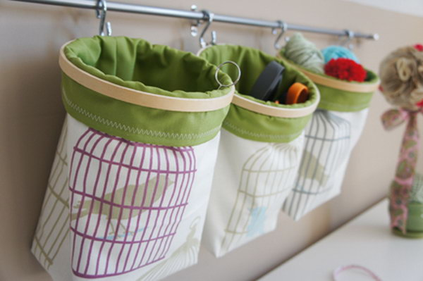 fabric hanging baskets. Smart, well-organized, bright and beautiful. The right storage containers can make a difference in storing your possessions for safekeeping and easy access.