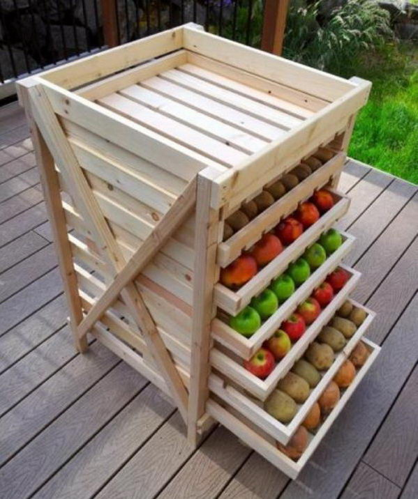 Convenient Fruit Storage. Smart, Well Organized, Bright And Beautiful. The  Right