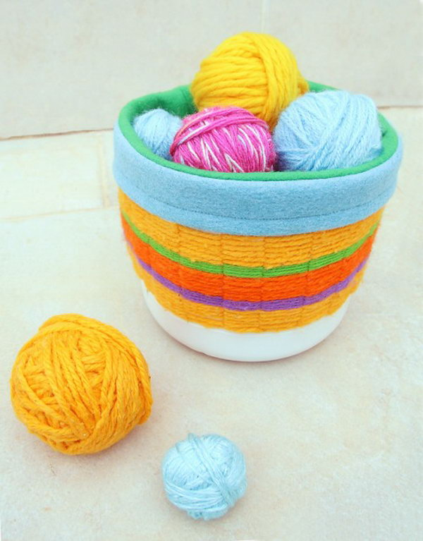 colorful woven basket. Smart, well-organized, bright and beautiful. The right storage containers can make a difference in storing your possessions for safekeeping and easy access.