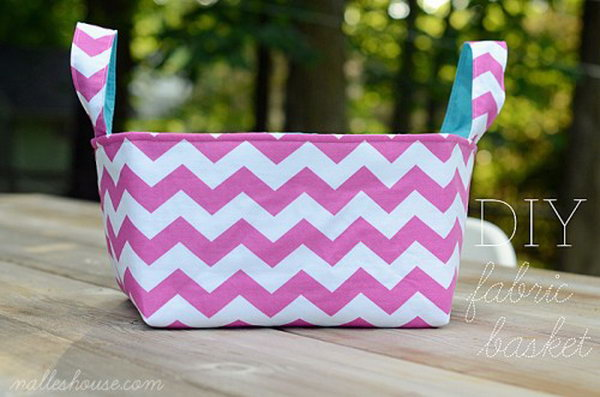 diy fabric baskets. Smart, well-organized, bright and beautiful. The right storage containers can make a difference in storing your possessions for safekeeping and easy access.