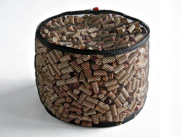 Wine Cork Ottoma.