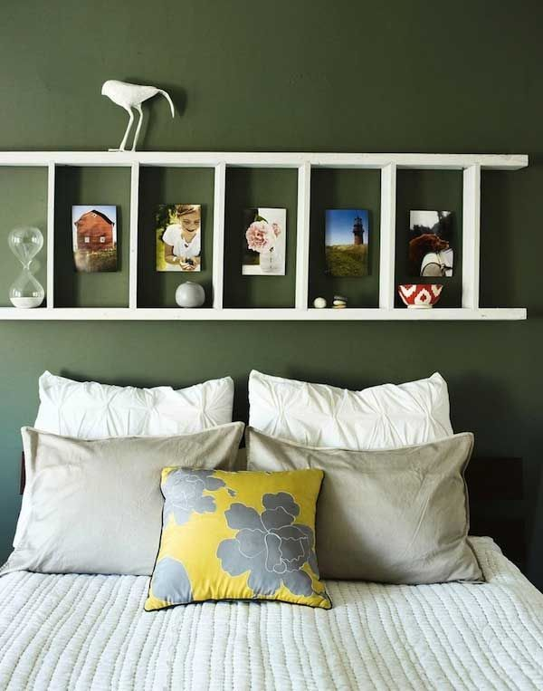 Rustic Ladder Headboard. Not only served to isolate sleepers from drafts and cold in less insulated buildings, but also was a important decorative element in your bedrooms.
