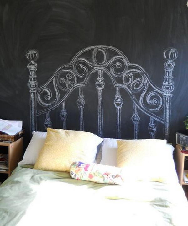 Chalkboard Headboard. Not only served to isolate sleepers from drafts and cold in less insulated buildings, but also was a important decorative element in your bedrooms.