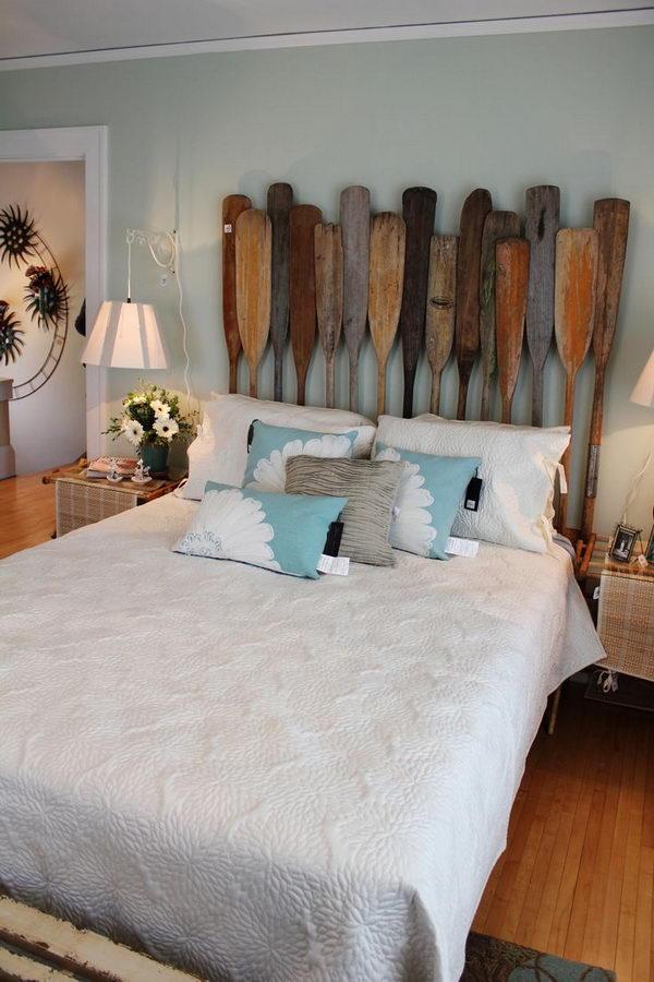 Reclaimed Wood Headboard Bedroom