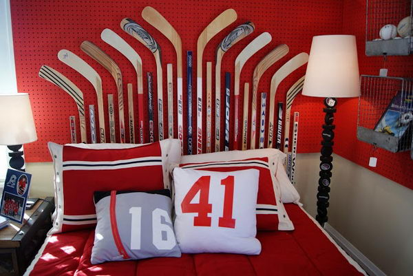 Hockey Stick Headboard. Not only served to isolate sleepers from drafts and cold in less insulated buildings, but also was a important decorative element in your bedrooms.