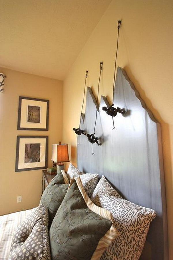 20 Creative Headboard Decorating Ideas