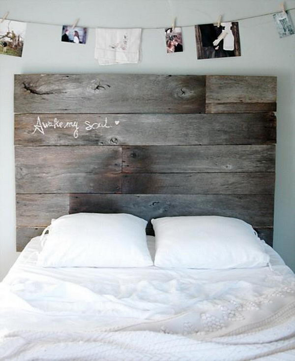 Pallet Style Headboard. Not only served to isolate sleepers from drafts and cold in less insulated buildings, but also was a important decorative element in your bedrooms.