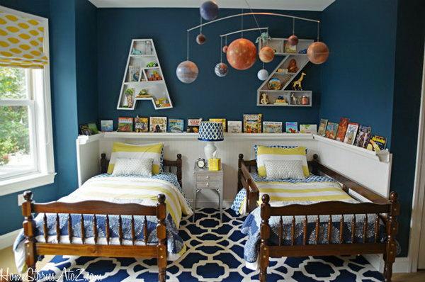 Cute letter bookshelves,