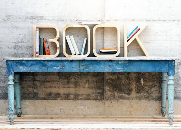 This set of B-O-O-K is intended to serve as book storage. The letters are handcrafted creations by skilled woodworker artisans using water-based paint and sealers.