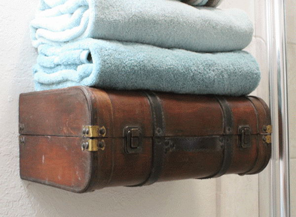 The bathroom towel shelf is lovely and the storage is brilliant.