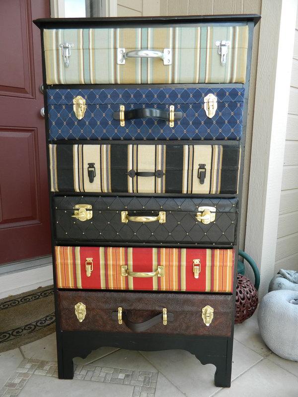 Suitcase Dresser,