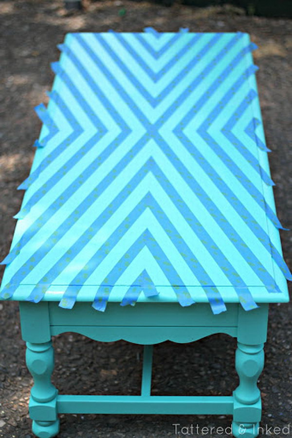 geometric coffee table makeover source
