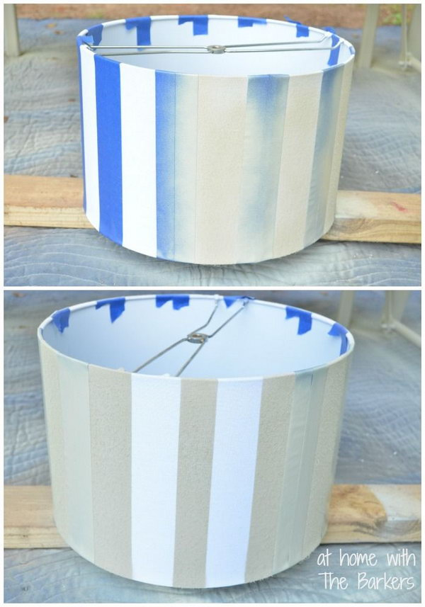 DIY Spray Painted Lamp Shade,
