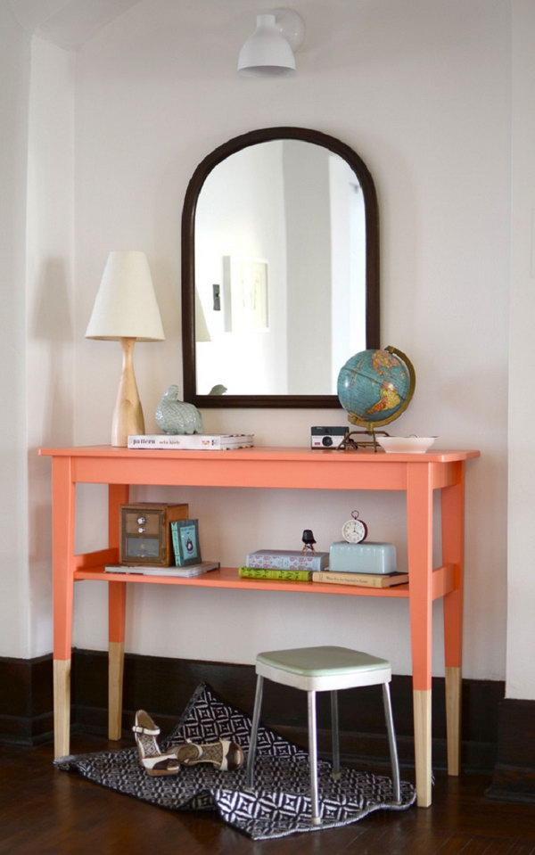 DIY Painted Entryway Table,