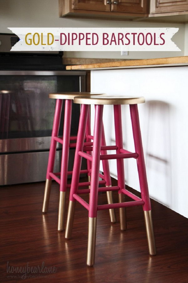 Gold Dipped Bar Stools,