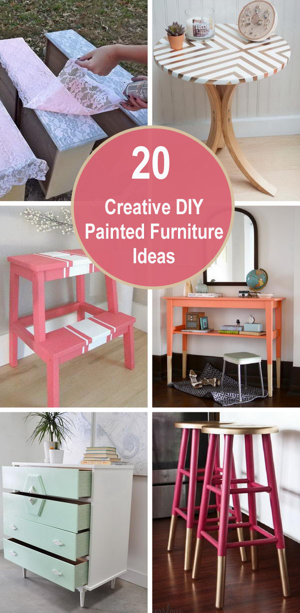20 Creative DIY Painted Furniture Ideas.