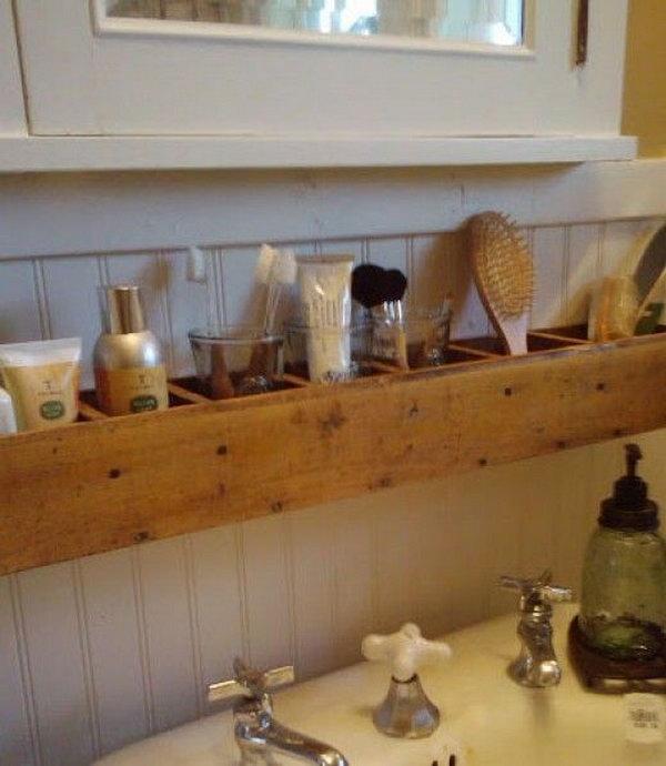 Pallet Wood Bathroom Storage,