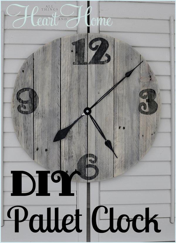 DIY pallet clock.