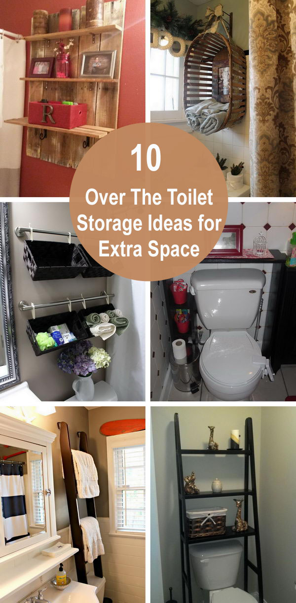Over The Toilet Storage Ideas for Extra Space.