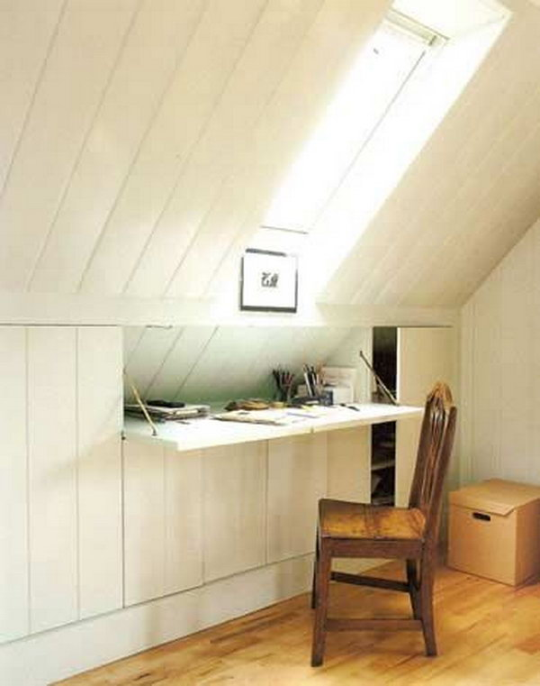 Clever Attic Hidden Storage. By using the structures in the attic room, turn your attic into a reliable storage space.