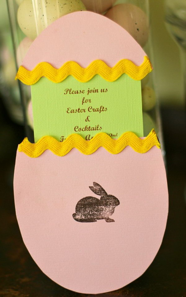DIY Easter Party Invitation. Invite guests for your party through these cool Easter invitaion cards. No one can deny the charm and charisma of the invites.