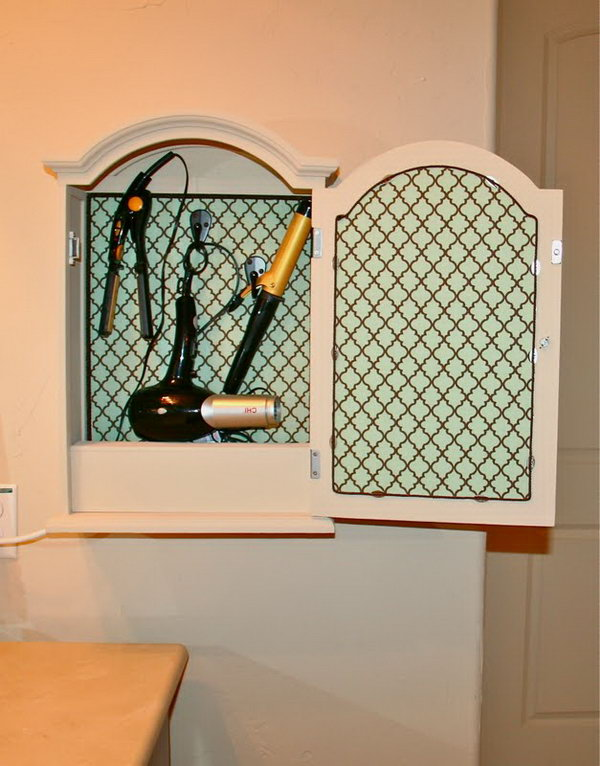 Mirrored Cabinet Storage. Convert A Little Mirrored Medicine Cabinet Or  Jewelry Cabinet Into Storage For