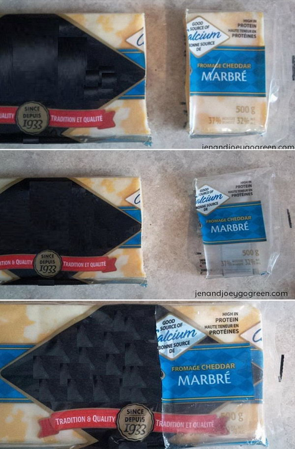 Reuse cheese wrappers for storage. Eliminate the use of plastic wrap for your cheese storing needs.