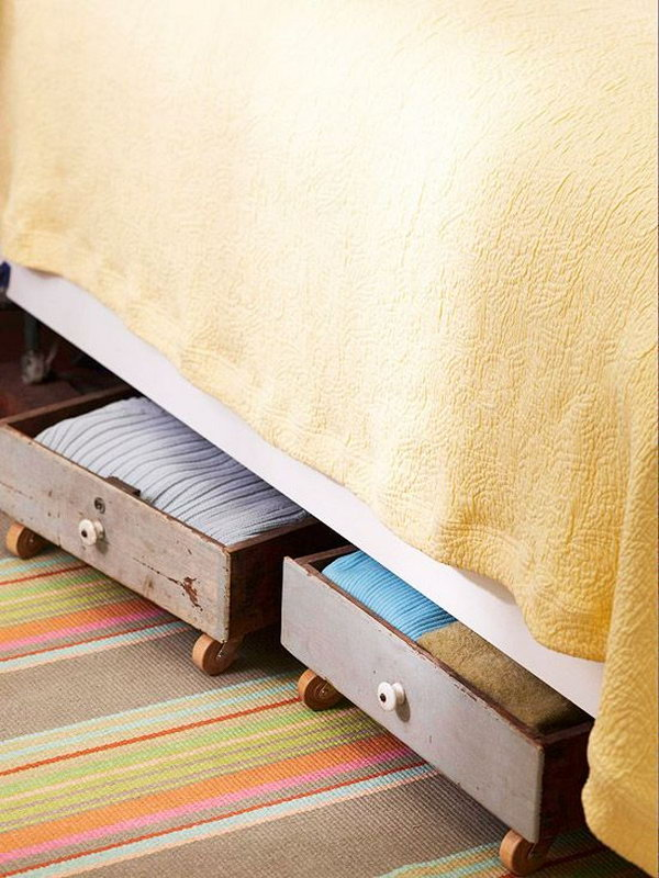 wicker under bed storage with wheels 2
