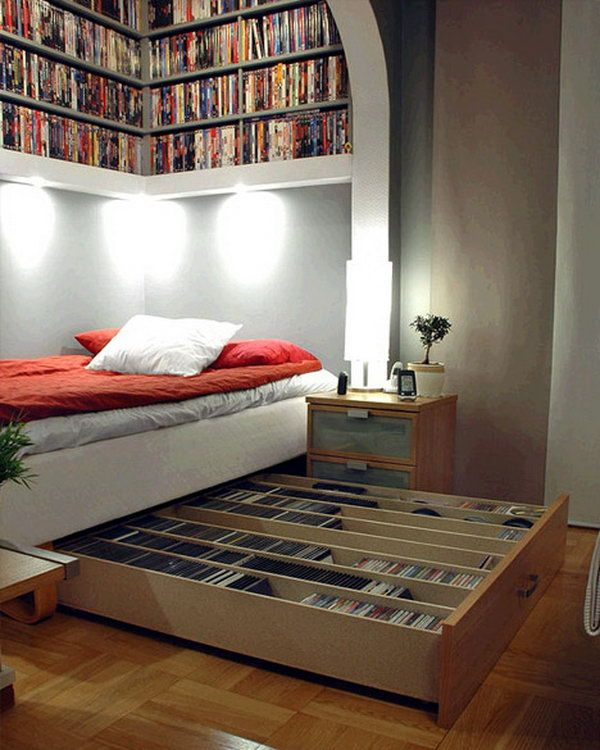 Save your space with these CD storage drawers underneath bed.