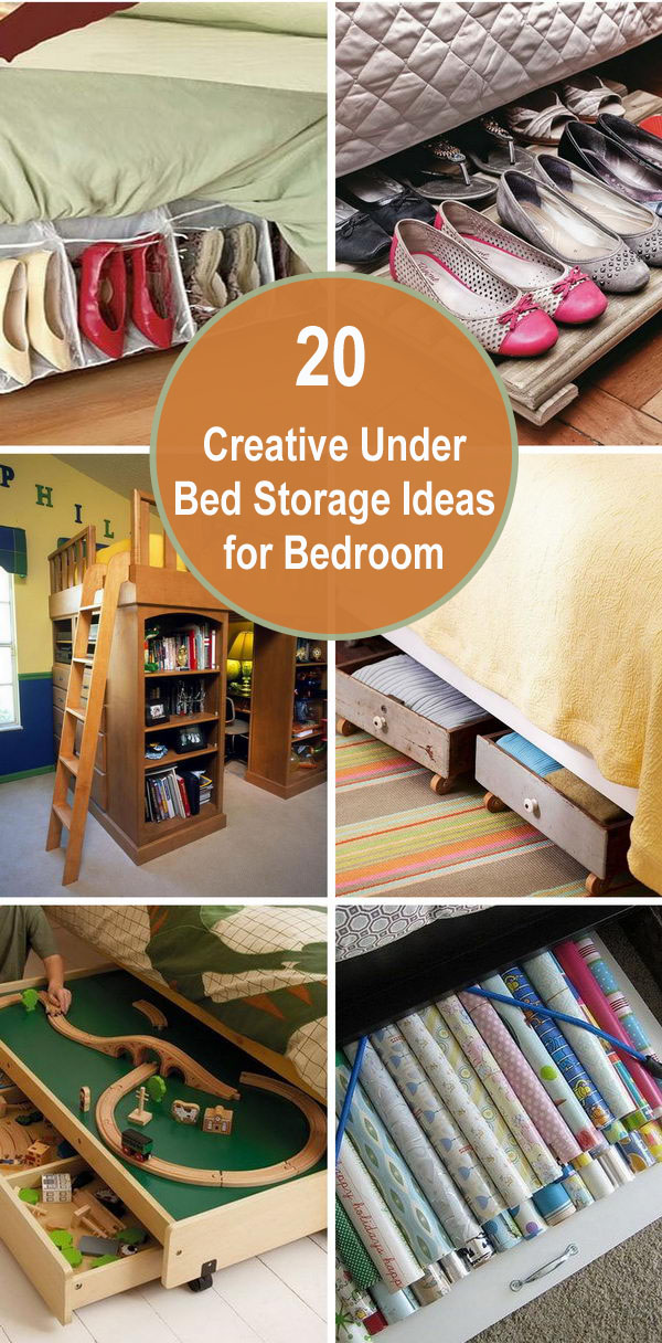 20 Creative Under Bed Storage Ideas for Bedroom.