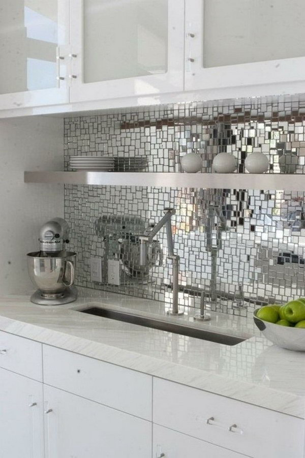 Bright kitchen. Not only will your kitchen look like it's ready to party at any given moment, it's also a great way to bring more light into a small space.