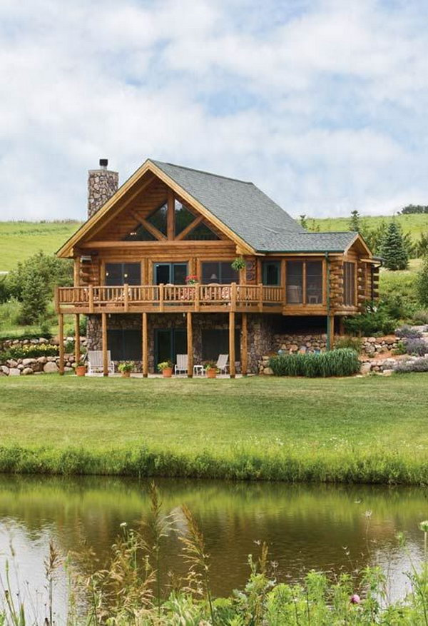 Rustic log home. A little bit of Italy and lots of rustic charm come together to create a appealing resort.