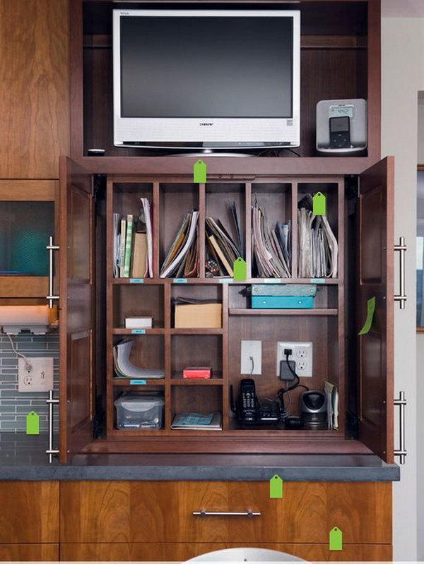 Multi-device Charging Station. Keep all your small cords and chargers neat and tidy and tucked out of the way with this multi-device charging station to add up the beauty home decor of your family.