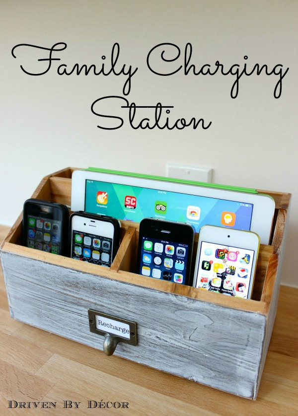 Family Charging Station. Connect wires from outlet box, twist the strands, screw on the plastic connectors, secure and mount the USB charger in the wall box. It is perfect to get all electronics of your family organized with this practical gadget.