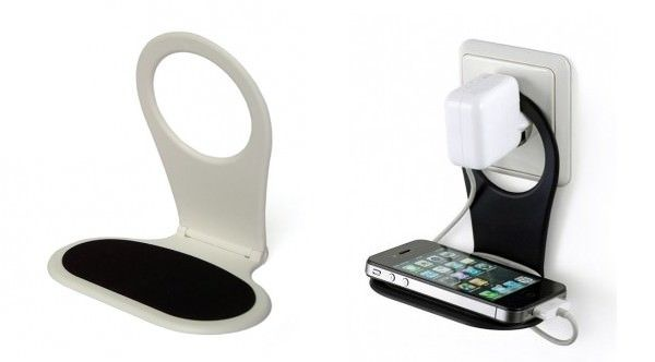 Phone Clip Holder. It is perfect to get your iPhone charged with this phone clip holder without the trouble caused by messy wire. This will keep your electronic organized for a chic home style.