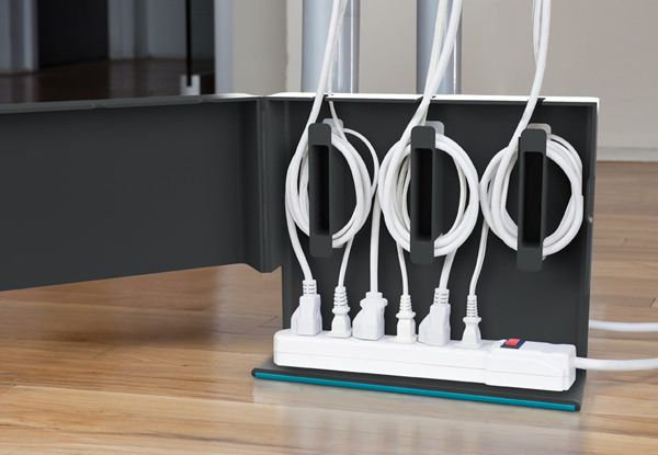 Plug Hub Cable Organizer. This creative gadget serves as cord wrappers to alleviate extra wiring to drop in your cables easily in a super chic home style. It even allows for hiding a full power strip.