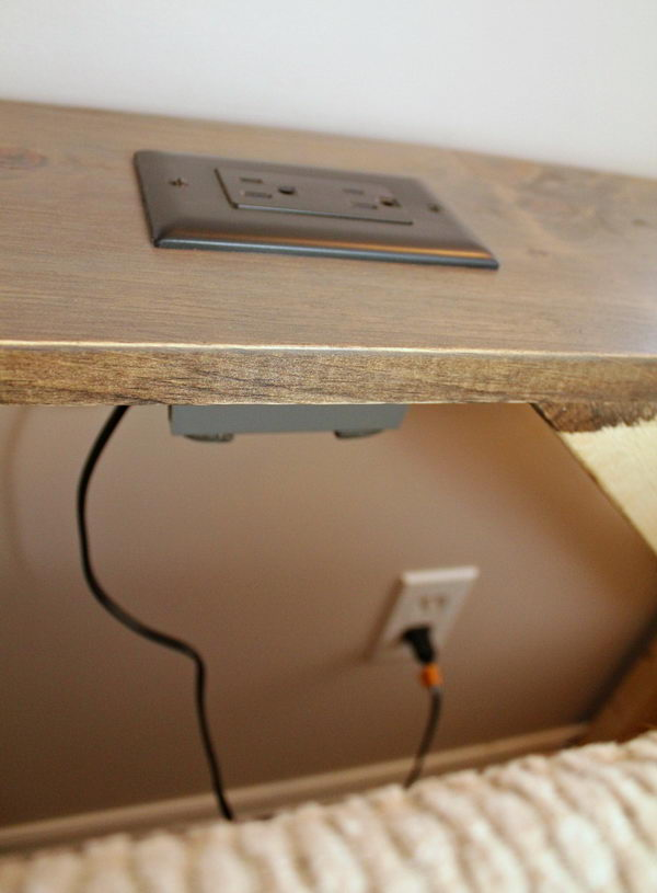 The Built-In Outlets Allow You Plug In Your Electronics Easily.