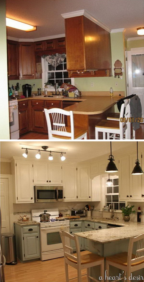 before and after: 25+ budget friendly kitchen makeover ideas Kitchen Makeover Ideas