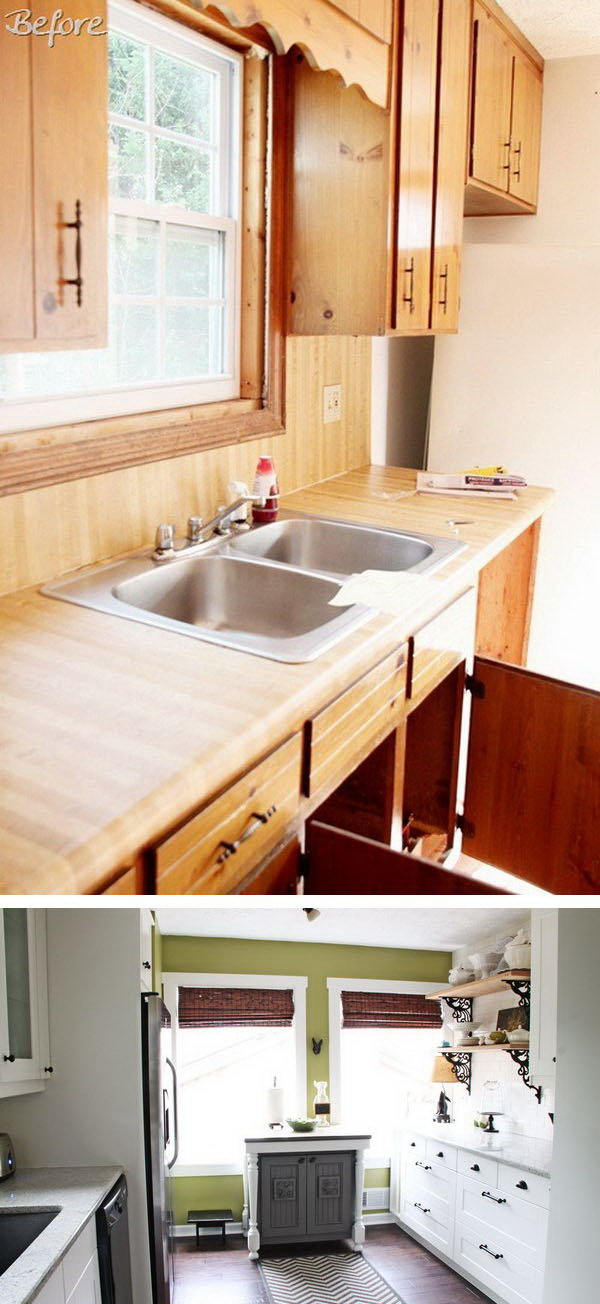cheap kitchen makeover ideas before and after before and after 25 budget friendly kitchen makeover ideas 27679