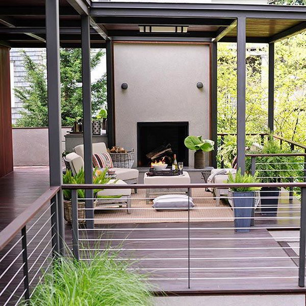 20 creative deck railing ideas for inspiration for Low price decking