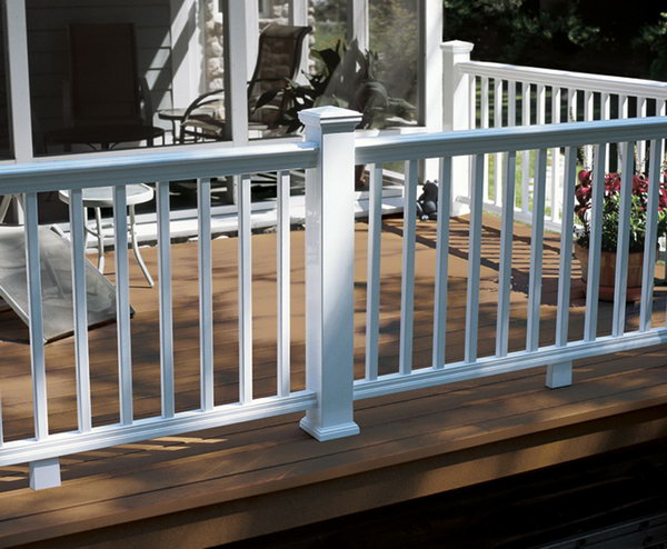 Traditional White Deck Railing