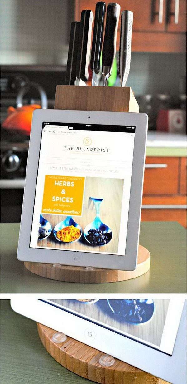 DIY knife block iPad stand.You can double the knife block as an iPad stand.Here is a step-by-step tutorial for your reference.