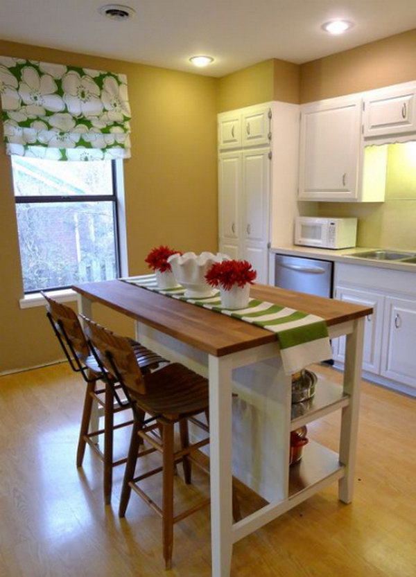 Budget-Friendly Option. Love the island from IKEA. There's no need to spend tons on custom cabinetry and granite counters, especially on a kitchen island. The island was a breeze to assemble and really high quality and very sturdy.