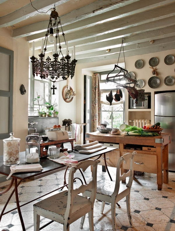 Beautiful French Romance. French romance through a poetic setting of antiques and shabby chic furniture.