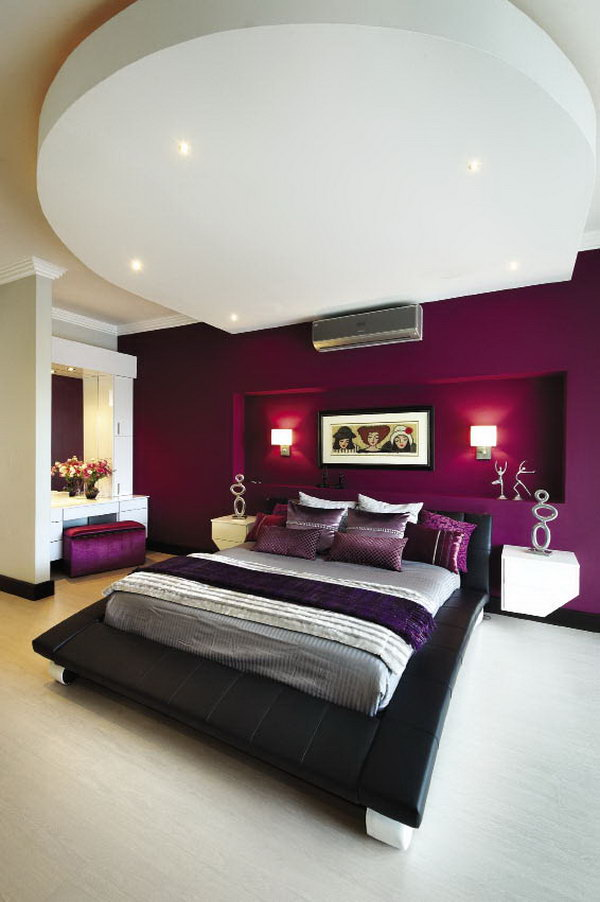 Purple Themed Master Bedroom Paint Color Ideas