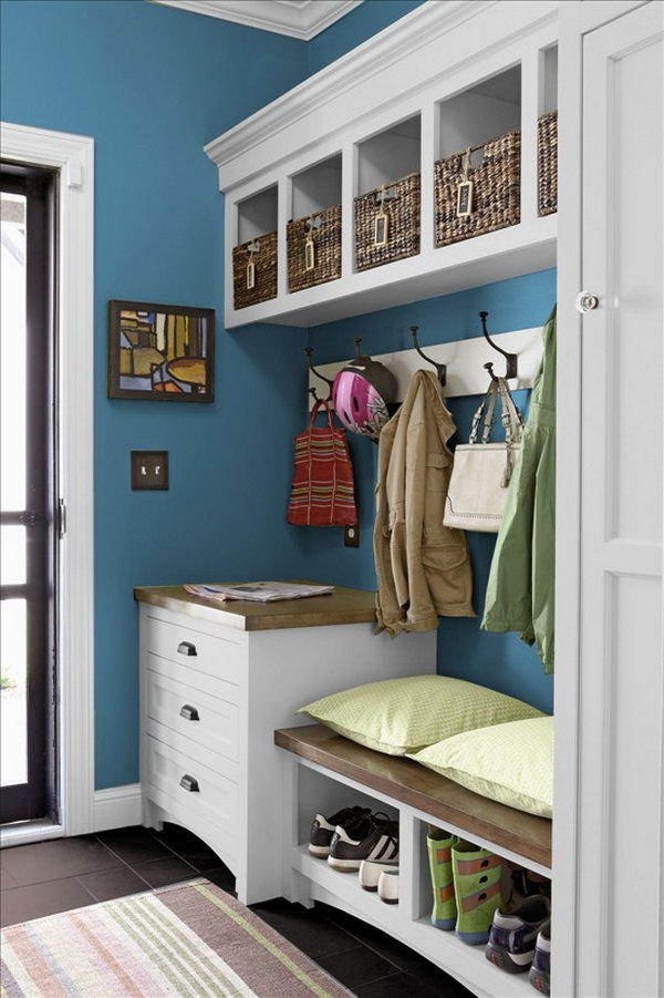 Shelves White Walls And Entry Ways: 30+ Awesome Mudroom Ideas